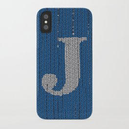 Winter clothes. Letter J II. iPhone Case
