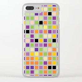 City Blocks - Eggplant #490 Clear iPhone Case