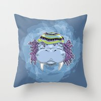 marley Throw Pillows featuring Marley by Lauda Images