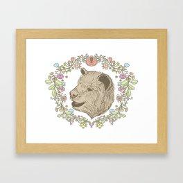I love you beary much. Framed Art Print