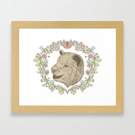 I love you beary much. Framed Art Print