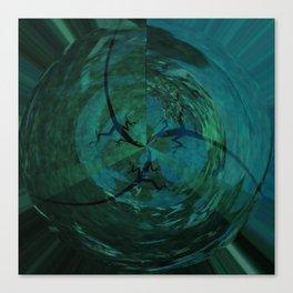 Synchronized Lizard Swimming Canvas Print