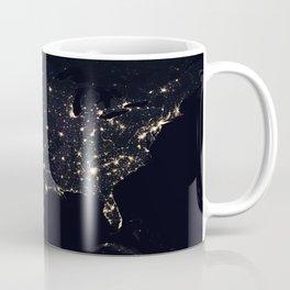 United States at Night Coffee Mug