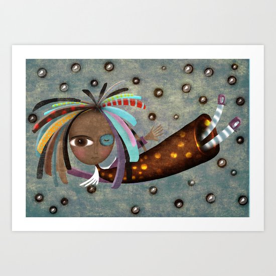Africa Angel  Art Print