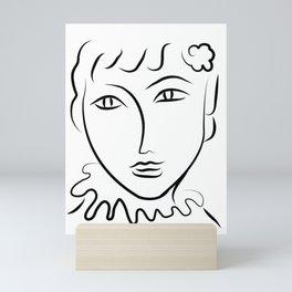 Abstract Face Sketch Mini Art Print