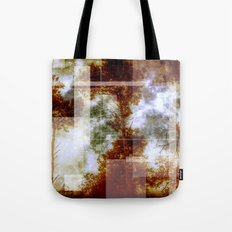 Forest Memories Abstract Orange Fire Tote Bag