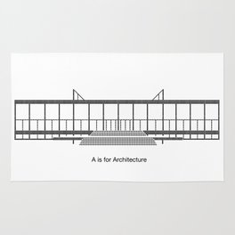 Mies - A is for Architecture Rug