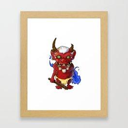 Bobblehead Oni Demon Framed Art Print