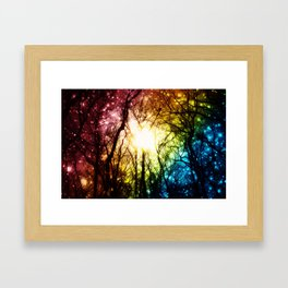 Dark Rainbow Nights Framed Art Print