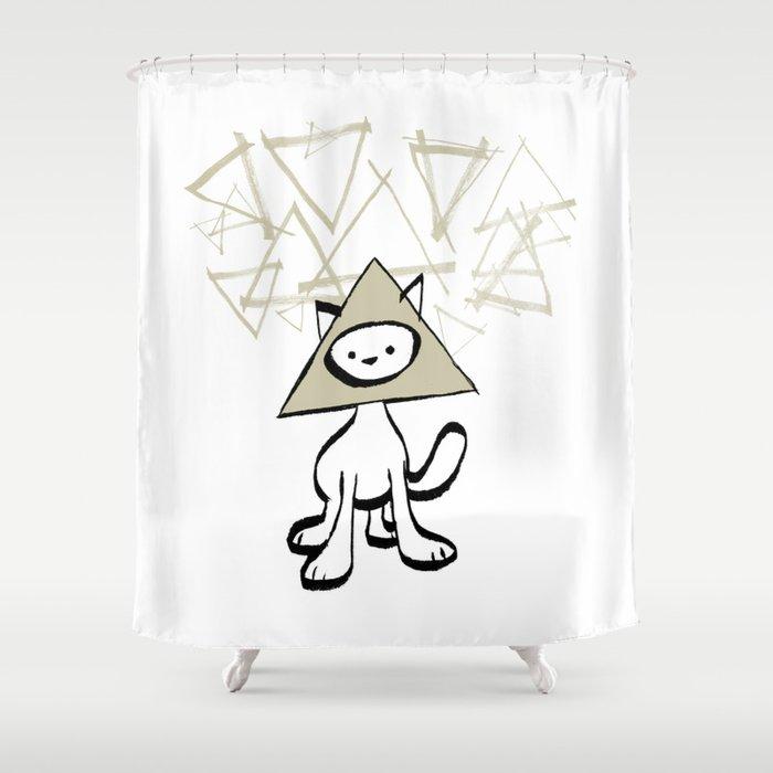 minima - pyramid cat Shower Curtain