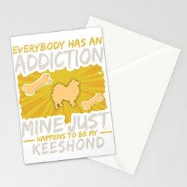 Keeshond  Funny Dog Addiction Stationery Cards