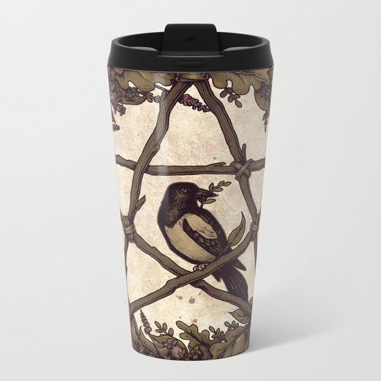 Botanical Pentacle: Wild Witch Metal Travel Mug