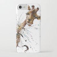 giraffe iPhone & iPod Cases featuring Giraffe by TAOJB