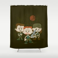 military Shower Curtains featuring The Military by DoodleHeadDee