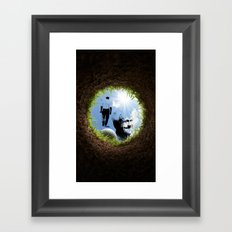 Hole in one Arnold! Framed Art Print
