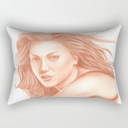 Woman Portrait 3 Rectangular Pillow