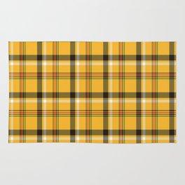 Yellow Tartan Plaid Rug
