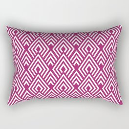 Marsala Diamond Pattern Rectangular Pillow