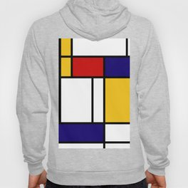 Geometric Wall Art, Mid Century Modern Wall Art, Grey Yellow Black Art, Shapes and Lines Art, Bauhau Hoody