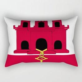 Gibraltar flag emblem Rectangular Pillow
