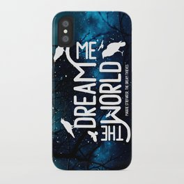 Dream me the world v2 iPhone Case