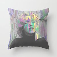 monroe Throw Pillows featuring Monroe by Calepotts