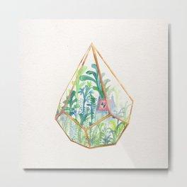 Terrarium Garden II Metal Print