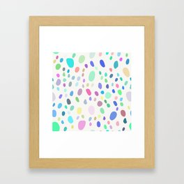 Abstract Colorful Random Dots Framed Art Print