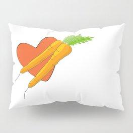 Carrot Heart Pillow Sham