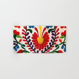 Red Mexican Flower Hand & Bath Towel