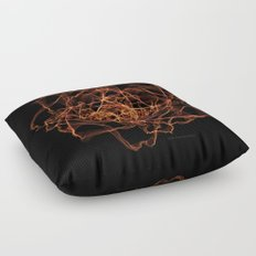 Fire Rose Floor Pillow