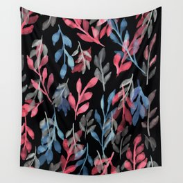 180726 Abstract Leaves Botanical Dark Mode 2 Wall Tapestry