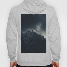 Darkness and storm clouds over mountains Hoody