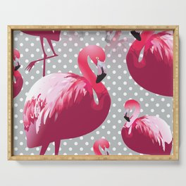 Watercolor Flamingo Pattern 6 Serving Tray