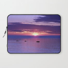 Colorful Cloudy Sunset  Laptop Sleeve