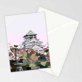Geometric Osaka castle, Japan Stationery Cards