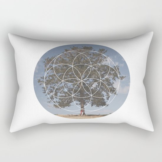 Free Tree Hugs - Geometric Photography Rectangular Pillow