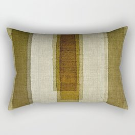 """Burlap Texture Greenery Columns"" Rectangular Pillow"