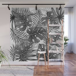 Tropical Leaf Pattern - WB Wall Mural