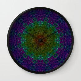 Rainbow Kaleidoscope 4 Wall Clock