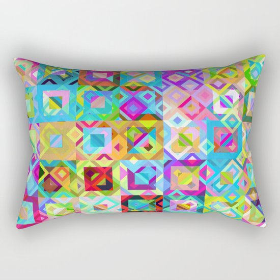 Multicolor Geometric Pattern Rectangular Pillow
