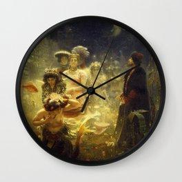 Sadko by Ilya Repin, 1876 Wall Clock