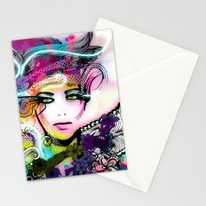 colorful floral illustration Stationery Cards