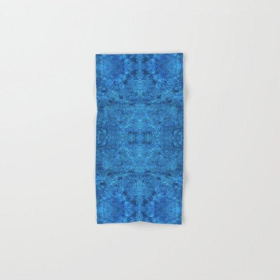 Turquoise blue swirls zentangle Hand & Bath Towel