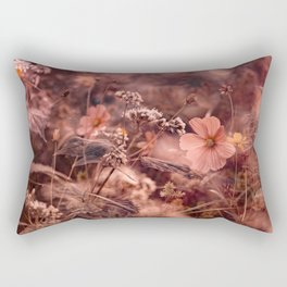 Rust and Blush NC Wildflowers Rectangular Pillow