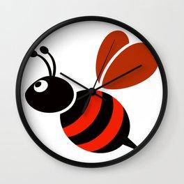 Bumblebee illustration Wall Clock