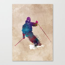 alpine skiing #ski #skiing #sport Canvas Print