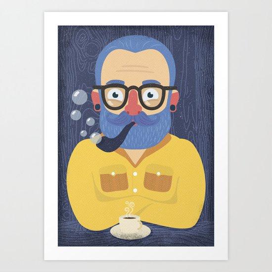Blue Beard Art Print