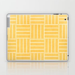 square lines - yellow Laptop & iPad Skin
