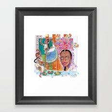 India dancer Framed Art Print